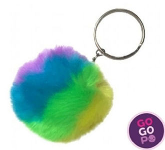 Picture of GoGoPo Fluffy Neon Keyring