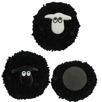 Picture of Pom-Pom Black Sheep Magnets