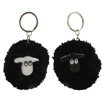 Picture of Pom-Pom Black Sheep Keyring