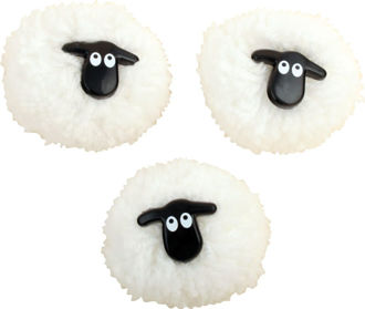 Picture of Pom-Pom Sheep Magnets