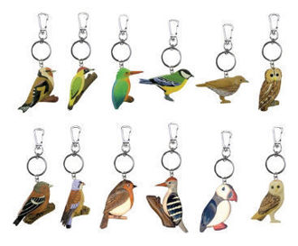 Picture of British Bird Wood Keyring