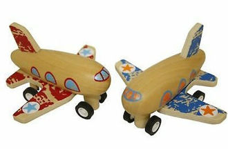 Picture of Wooden Pull Back Airplane