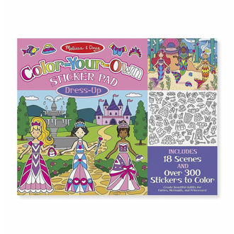 Picture of Color-Your-Own Sticker Pad - Dress-Up