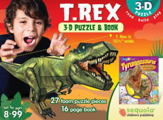 Picture of T Rex 3-D Puzzle & Book