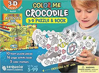 Picture of Color Me Crocodile - 3-D Puzzle & Activity Book