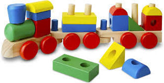 Picture of Melissa & Doug Stacking Train - Classic Wooden Toddler Toy (18pc)