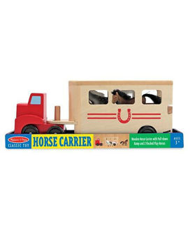 Picture of Melissa & Doug Wooden Horse Carrier