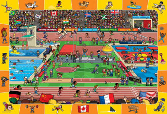 Picture of Spot & Find Olympics - 100pc Jigsaw Puzzle by Eurographics