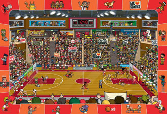 Picture of Spot & Find Basketball - 100pc Jigsaw Puzzle by Eurographics
