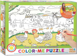 Picture of EuroGraphics Farm Color Me Jigsaw Puzzle (100-Piece)