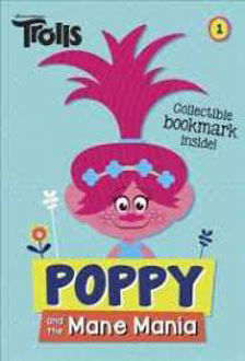 Picture of Trolls Poppy and the Mane Mania Collectible Bookmark inside!