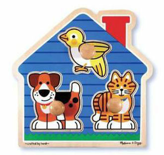 Picture of Melissa & Doug House Pets Large Peg Puzzle