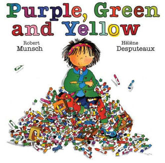 Picture of Purple Green and Yellow