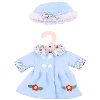 Picture of Blue Hat and Coat (for 34cm Doll)