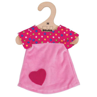 Picture of Pink Dress with Spots (for 34cm Doll)