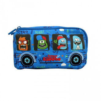 Picture of Smily Kiddos Fancy Star Pencil Case - Crazy Theme Blue