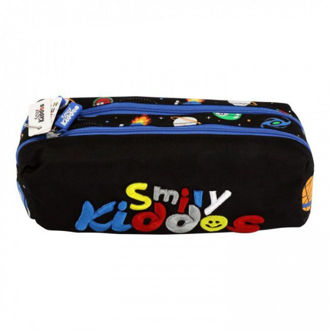 Picture of Smily Kiddos Twin Zipper Pencil Pouch Black
