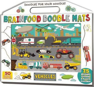 Picture of Brainfood Doodle Mats- Vehicles