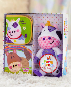 Picture of Farms Friends Baby Gift Set
