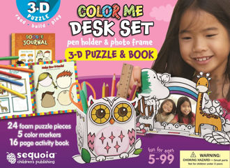 Picture of Color Me Desk Set - Pen Holder & Photo Frame - 3-D Puzzle &  Book