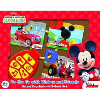 Picture of Disney Mickey Mouse Clubhouse - On the Go with Mickey and Friends - Sound Keychain and 3-Book Set