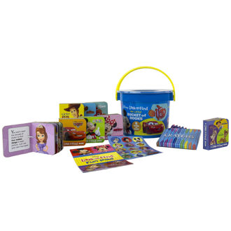 Picture of Disney - Mickey and Minnie Mouse, Toy Story, and more! - My First Library Look and Find Book Block Bucket