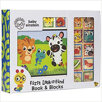 Picture of Baby Einstein - 10 Wooden Blocks and Interactive First Look and Find Board Book