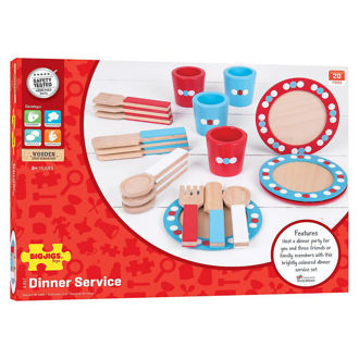 Picture of Bigjigs Toys Wooden Dinner Service Playset