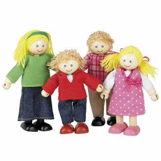 Picture of Tidlo Wooden Doll Family Figures Play Set Accessories Mini Figurines