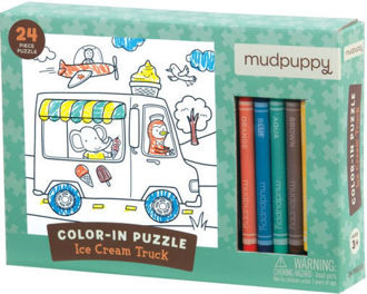 Picture of Ice Cream Truck Color-In Puzzle