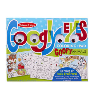 Picture of WACKY ANIMALS GOOGLE EYES COLORING PAD