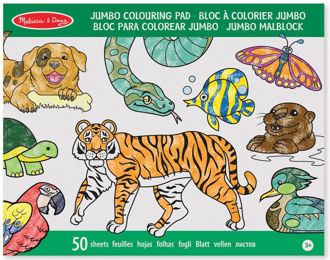 Picture of MELISSA & DOUG JUMBO ANIMAL COLORING PAD