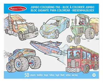 Picture of Jumbo Colouring Pad - Vehicles