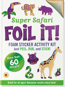 Picture of Super Safari Foil It! (Foam Sticker Activity Kit)