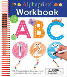 Picture of ALPHAPRINTS/ WIPE CLEAN WORKBOOK