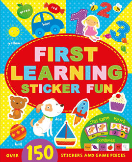 Picture of First Learning Sticker Fun: Over 150 stickers and game pieces