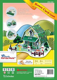 Picture of 3D Puzzle Pop out world House Card Green
