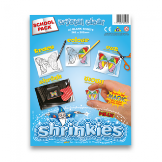 Picture of Shrink Art School Pack 202x262mm (20 Sheets) - Crystal Clear