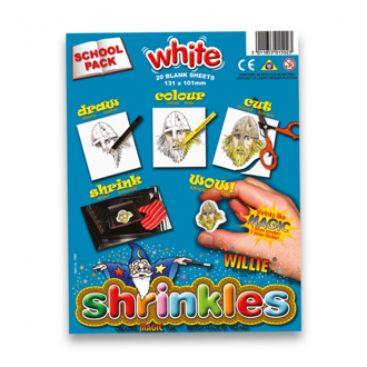Picture of Shrink Art School Pack 202x262mm (20 Sheets) - White