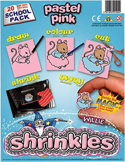 Picture of Shrink Art School Pack 202x262mm (20 Sheets) - Pastel Pink