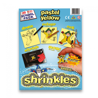 Picture of Shrink Art School Pack 202x262mm (20 Sheets) - Pastel Yellow
