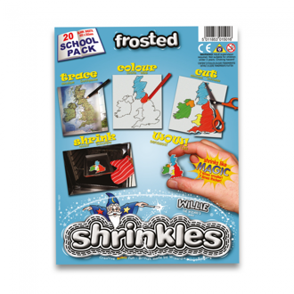 Picture of Shrink Art School Pack 202x262mm (20 Sheets) - Frosted