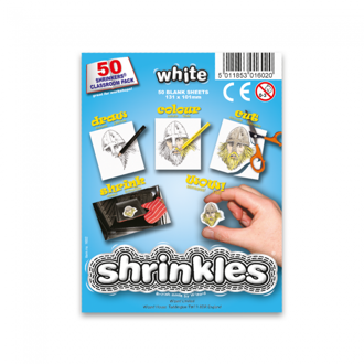 Picture of Shrink Art Classroom Pack 101x131mm (50 Sheets) - White