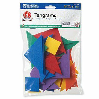 Picture of Learning Resources Tangrams, 4 colours, Bag of 6