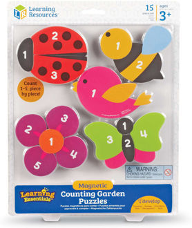Picture of Learning Resources Magnetic Counting Garden Puzzles