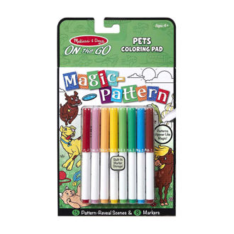 Picture of Magic-Pattern Coloring Pad On the Go Pets