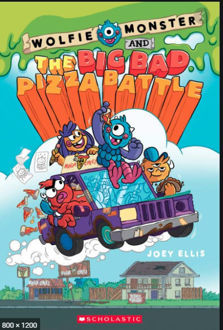 Picture of WOLFIE MONSTER AND THE BIG BAD PIZZA BATTLE PBK