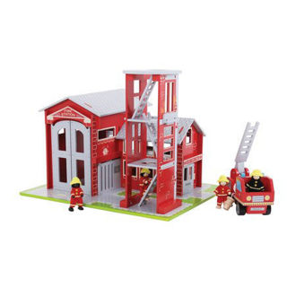 Picture of FIRE STATION AND ENGINE