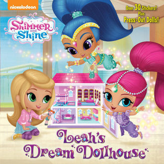 Picture of Shimmer and Shine Leah's Dream Dollhouse Over 30 stickers and press out Dolls!
