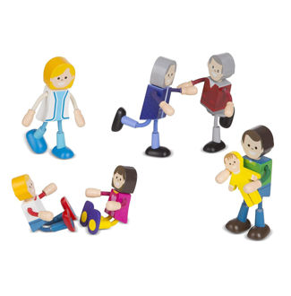 Picture of Wooden Flexible Figures Family